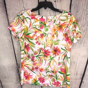 J.Crew Floral Ladies blouse size Small